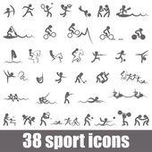 Ikony sporty — Wektor stockowy