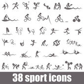 Sports icons — Vector de stock