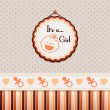 It's a girl orange background — Vettoriali Stock