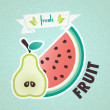 Fresh fruit — Stock Vector