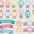 Stok Vektör: Ribbons about babies