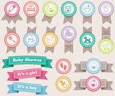 Rubans sur les bébés — Vecteur