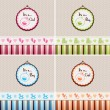 Baby Shower backgrounds — 图库矢量图片 #25432795