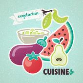 Vegetarian cuisine — Stock Vector