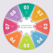 Circular infographic. Eight steps. — Vettoriale Stock