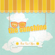 Enjoy the sunshine — Stock Vector