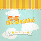 Enjoy the sunshine — Stock Vector
