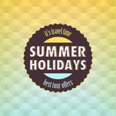 Summer: Geometric retro background — Vector de stock