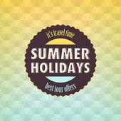 Summer: Geometric retro background — Stock Vector