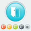 Download upload buttons — Imagen vectorial