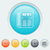 News buttons — Stock Vector