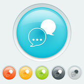Chat buttons — Vettoriale Stock