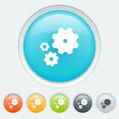 Settings buttons — Stock Vector