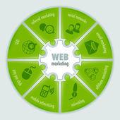 Elementi di web pulito impostano neri — Vettoriale Stock