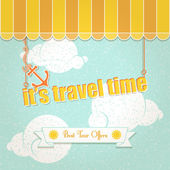 It's travel time — Stock Vector