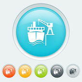 Transport by water buttons — Vector de stock