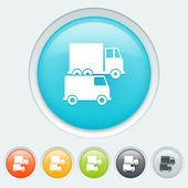 Transport on the road buttons — Vector de stock