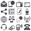 Stok Vektör: Communication icons