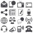 iconos comunicación — Vector de stock