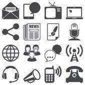 Meddelande-ikoner — Stockvektor