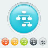 Sitemap buttons — Stock Vector