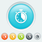 Clock buttons — Vector de stock