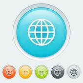 Earth button — Stock Vector