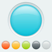 Button in six colors — Stock Vector
