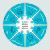Enterprise Resource Planning infographics — Stok Vektör