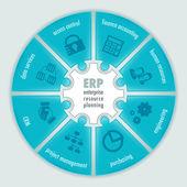Infografica di pianificazione delle risorse aziendali — Vettoriale Stock