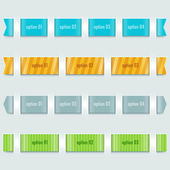 Ribbons options — Vector de stock