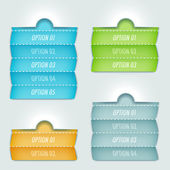 Options banner — Vector de stock