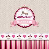 Heureuse fête des mères — Vecteur