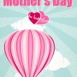 Stock Vector: Happy Mothers Day and hot air balloon