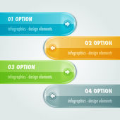 Tabs infographic with four options — Vettoriale Stock