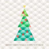 Christmas tree Hexagon pattern — Stock Vector