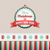 Merry Christmas and Happy New Year — Vector de stock
