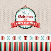 Mutlu noeller ve mutlu yeni yıl — Stok Vektör
