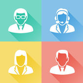Business people colorful flat icons — Stock Vector