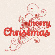 Greeting card Merry Christmas — Stockvectorbeeld