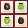 Set II of greeting cards Christmas ball — 图库矢量图片