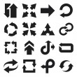 ストックベクタ: Arrow flat icons. Black