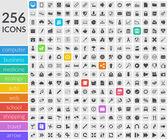 Icônes à l'intérieur des carrés arrondis — Vecteur