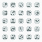 Icons about business people working in office — Cтоковый вектор
