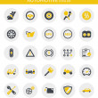 Vector de stock : Icons about automotive