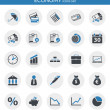 Vector de stock : Icons about economy