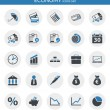 Stockvector : Icons about economy