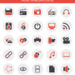 Icons about multimedia — Stock Vector