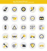 Icons about automotive — Stok Vektör