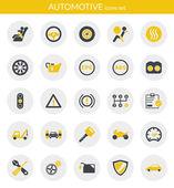 Ikony o automobilový průmysl — Stock vektor